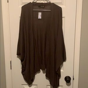 Cute olive poncho style sweater